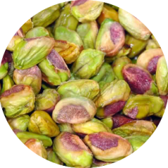 Pealed pistachios are delicious!