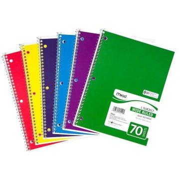 Mead spiral notebook